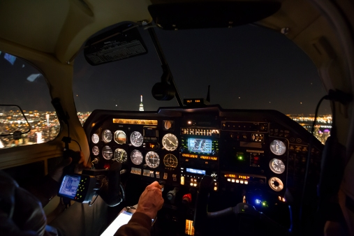 2017-11-27 Night, Cockpit
